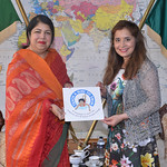 Malini with Speaker of Bangladesh Parliament