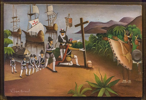 Niña, Pinta, Santa Maria  Christopher Columbus arrival in the Americas. Musee Ogier-Fombrun (Colonial Museum of Haiti). Montrouis, Oest Department, Haiti. | by Le Salon de la Mappemonde