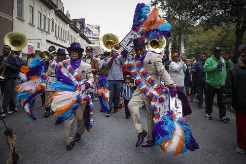 Perfect Gentlemen second line 2017. Photo by Jamell Tate.