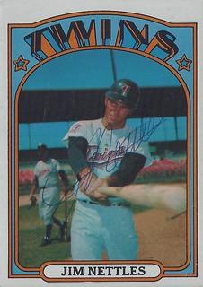 1972 Topps Baseball Card-Jim Nettles//Minnesota Twins