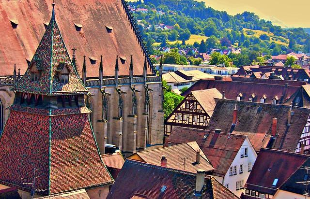 GERMANY, Schwäbisch Gmünd , Heilig-Kreuz-Münster und Glockenturm, 76211/10128