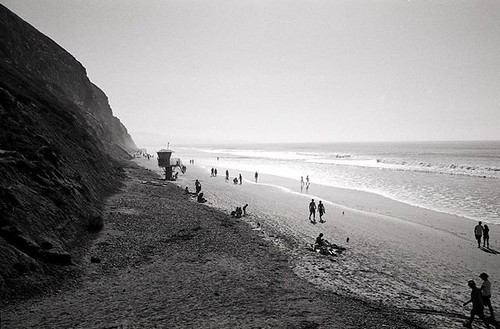 Beach Walkers. #leicamp #leicaimages #summilux50 #ilfordphoto #delta100 #shootfilmbenice #believeinfilm | by bill mccarroll