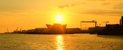 sunrise titanic belfast