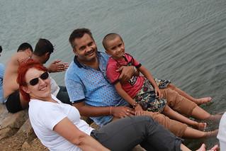 Delegates enjoying in Kodar Dam | by savecaves