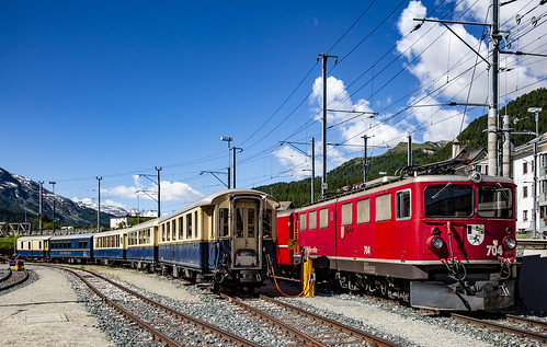 Rhätische Bahn RhB 704 Samedan 10 juni 2018 | by leo spee