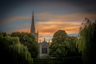 Sunset over All Saints, Stratford | by Paul Kaye