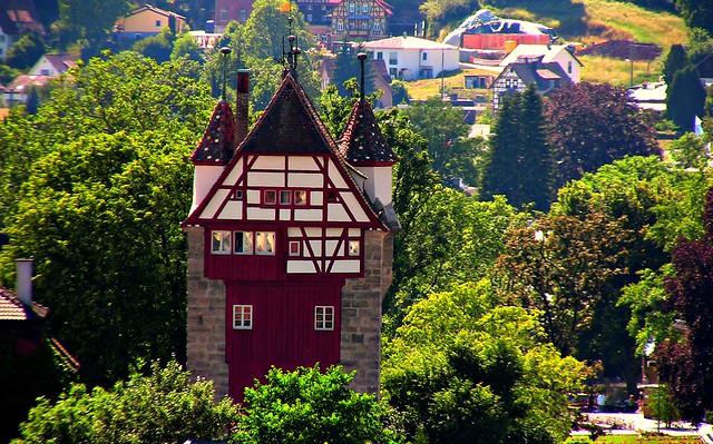 GERMANY,  Schwäbisch Gmünd ,  Fünfknopfturm, 76214/10135