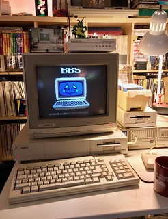 BBSing on the Amiga 1000