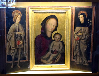 Virgin and child flanked by Saints (Italian, 15th Century)