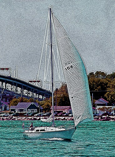 sailing sailboat pointedwardontario pointedward ontario canada ontariocanada lake lakehuron water hss sliderssunday