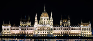 Hungarian Parliament Building at Night in Budapest | by nan palmero