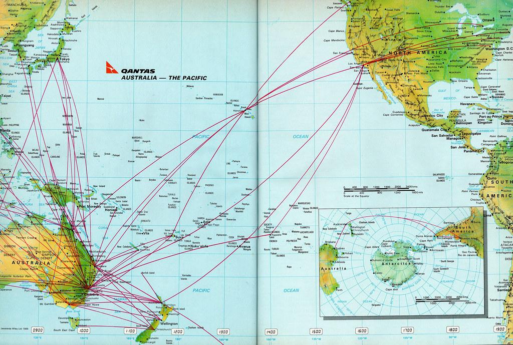 Qantas Pacific route map, 1992 | Qantas Airways Pacific rout ... on nok air route map, direct air route map, maldives air route map, thai route map, air canada route map, delta route map, cathay pacific route map, island air route map, tap air portugal route map, tiger air route map, lot polish route map, air niugini route map, ba cityflyer route map, independence air route map, lan ecuador route map, key lime air route map, dragonair route map, biman route map, qatar airways route map,