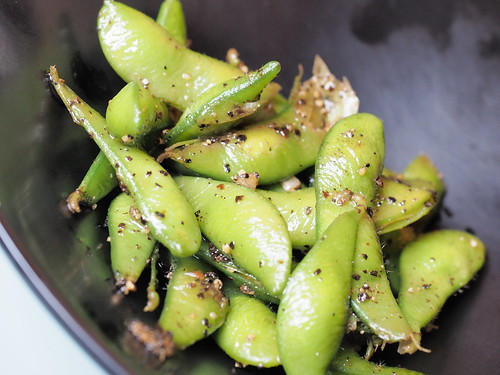 Edamame, another side dish at the steamboat restaurant   by huislaw