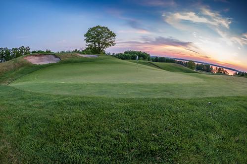 golf golfcourse fisheye wideangle landscape getolympus olympus oly em1mkiiomdem1markii omdem1mkii 8mm 8mmf18 8mmf18fisheye grass green michigan puremichigan