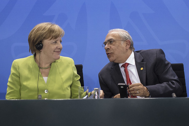 Meeting of Chancellor of Germany Angela Merkel with heads of International Organizations in Berlin