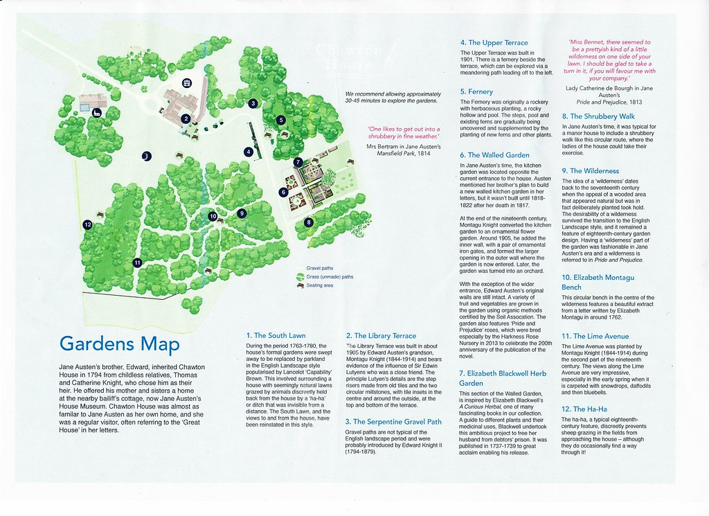 House Garden Map >> Chawton House Gardens Map Chawton House Library Is Located Flickr