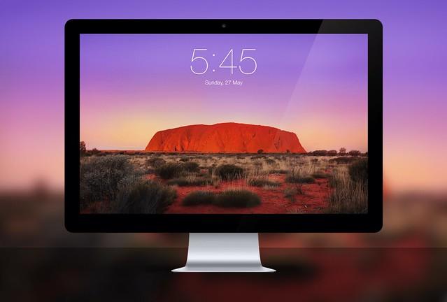 Uluru Rock Background