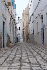 Street in Sousse medina (old town).