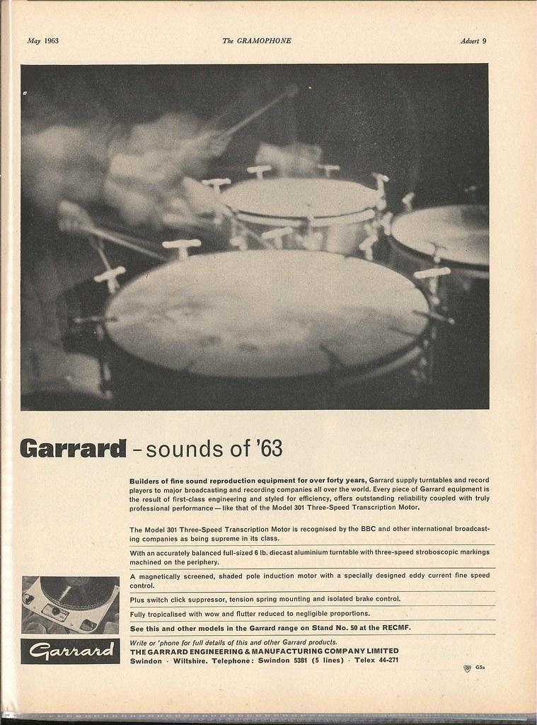Advertising for Garrard 301 – Analogue Addiction