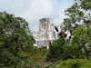 Tikal, pohled z chrámu II na špičku chrámu III, foto: Petr Nejedlý