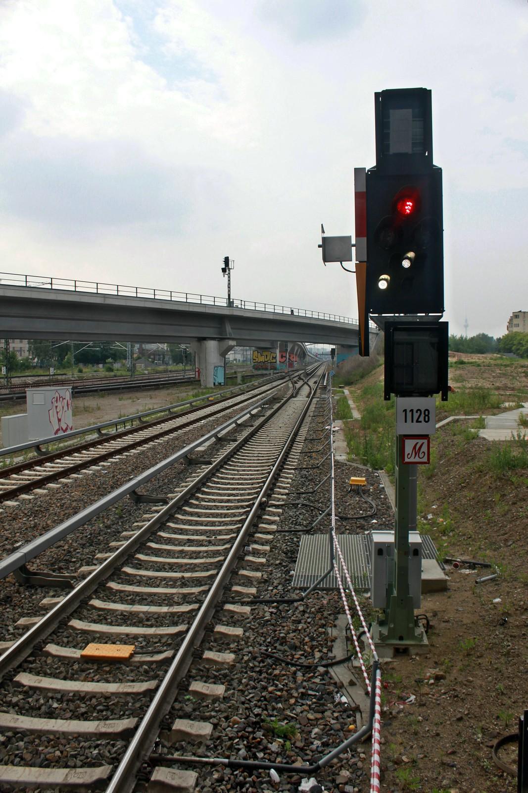 Ostkreuz: Südkurve mit Signal