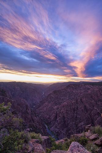 blackcanyon southrim canyon clouds gunnisonriver light river sunset