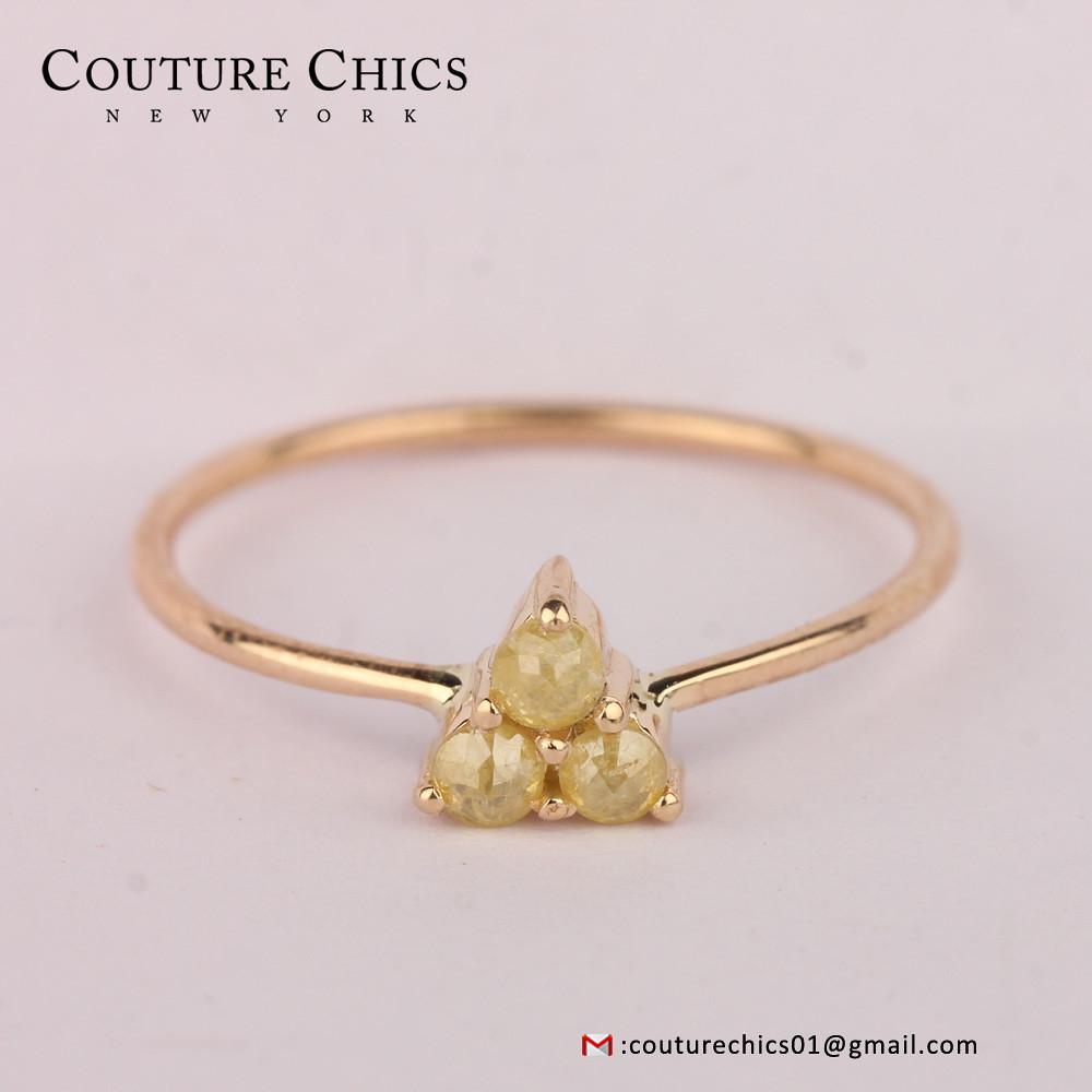 Slice Diamond Ring Solid 14k Rose Gold Handmade Jewelry | Flickr