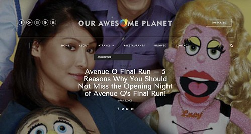 Avenue Q Final Run | by OURAWESOMEPLANET: PHILS #1 FOOD AND TRAVEL BLOG