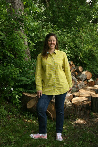 Simplicity 1538:  my TNT shirt pattern in raindrop Cotton and Steel fabric | by patternandbranch