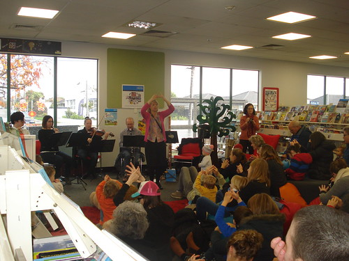 CSO woodwind ensemble, Shirley Library