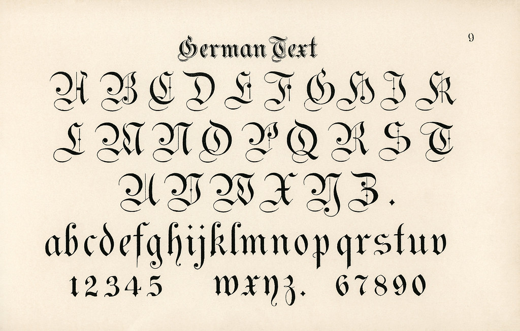 German style calligraphy fonts from Draughtsman'