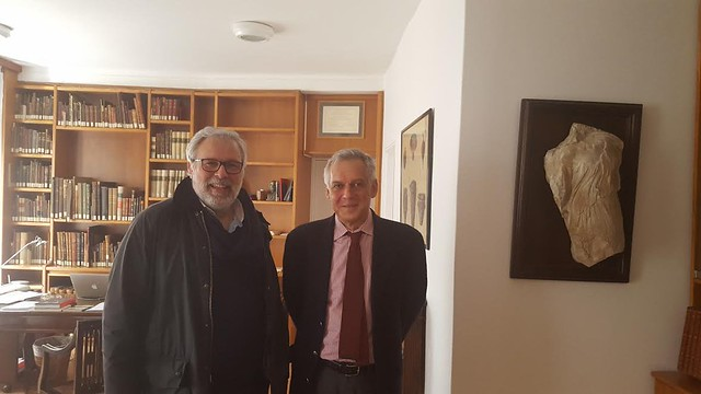 Με τον Διευθυντή της Ιταλικής Αρχαιολογικής Σχολής Αθηνών Emanuele Papi, ενόψει συνεργασίας για παραγωγή ιστορικού ντοκυμαντέρ