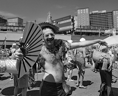 Fan Guy Coney Island Mermaid Parade. (Explored) | by Don Mosher Photography