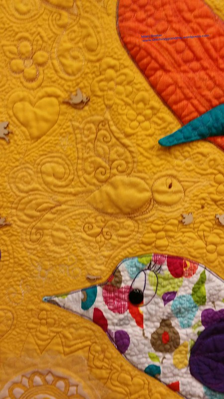 Quilted birds - A Bird in Hand by Marisela Rumberg