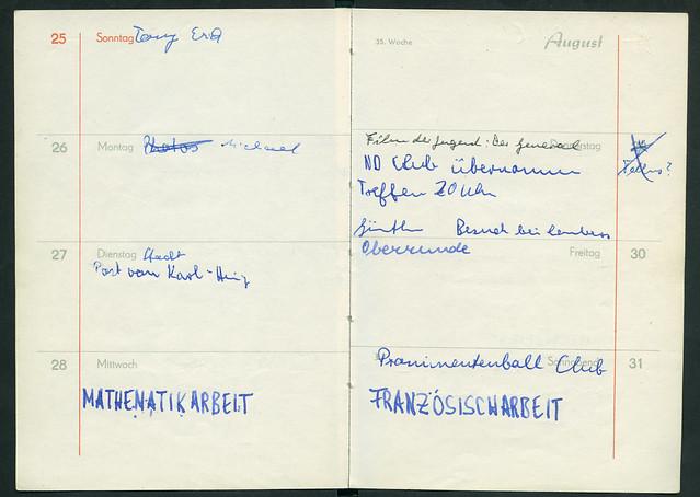 Archiv P012 Club Okay Bottrop, Meine Übernahme, 29. August 1968