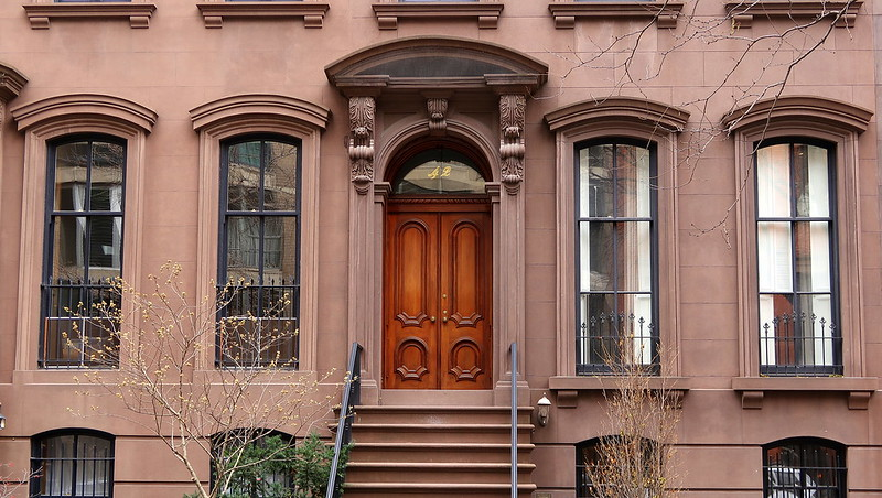 Arch-filled facade, 42 West 12th Street, Greenwich Village, New York