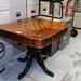 Ornate square chess table E165
