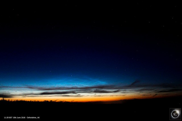 Noctilucent Clouds from Oxfordshire 10/06/18