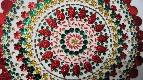 Completed Holiday Mandala