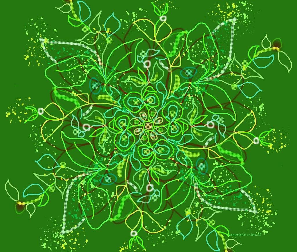 Green for Illustration Friday