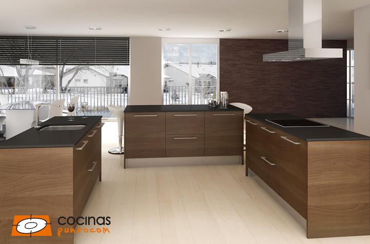 Diseños de cocina | Los acabados de madera aúna calidez y be ...