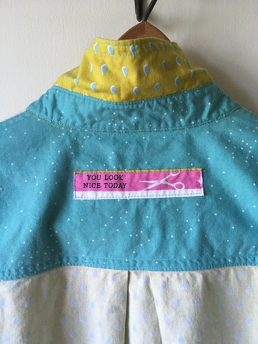 Simplicity 1538:  my TNT shirt pattern in raindrop Cotton and Steel fabric   by patternandbranch