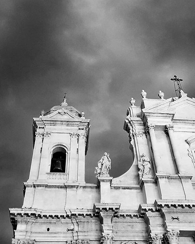 Noto #cathedral #blackandwhite #black #white #bw #lookingup #church #sky #clouds #cloudy #photooftheday #picoftheday #instagood #instago #travelgram #igers #igersitalia #noto #sicily #sicilia | by Mario De Carli
