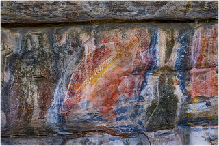 Ancient artwork site, Ubirr, Kakadu National Park, Northern Territory, Australia (est 10,000 plus years BP)