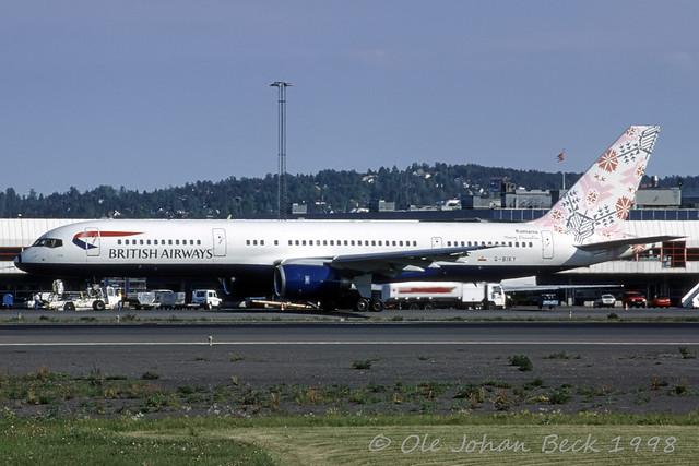 BA B757-236 G-BIKY at ENFB/FBU 31-05-1998