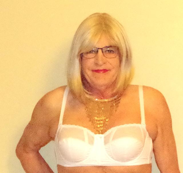 Pretty white bra