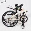 351-TERB-LIN-1802 Tern 2018 Link A7-鋁合金折疊車20吋7速Shimano Tourney變速406輪組白底棕標