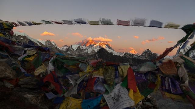 Everest sunset from Gokyo