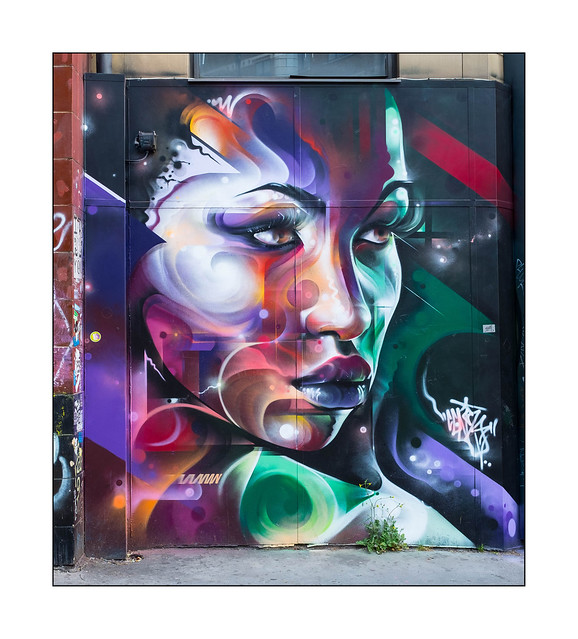 Street Art (Mr.Cenz), East London, England.