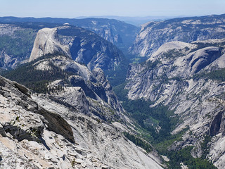 Half dome + valley from Clouds Rest | by snackronym